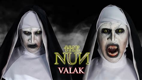 VALAK (The Nun) Makeup Transformation - YouTube