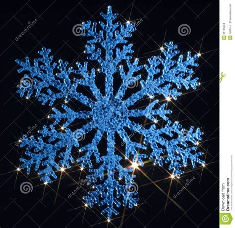 Twinkling Blue Snowflake Stock Images - Image: 36185024