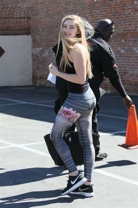 Willow Shields in Tights at DWTS Rehearsal Studio -40