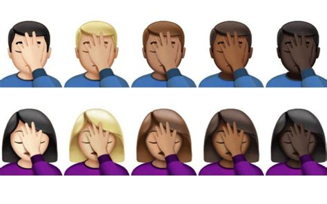 The iPhone is finally getting a facepalm emoji