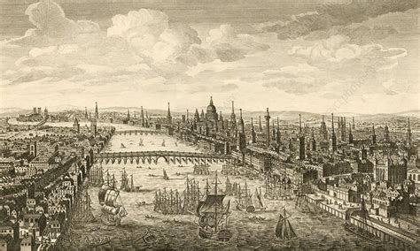 London and the Thames, 18th century - Stock Image C006