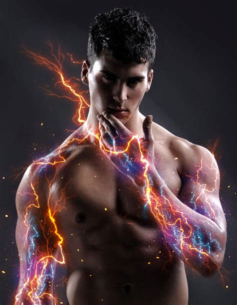 20 Dazzling Electricity & Lightning Photoshop Actions
