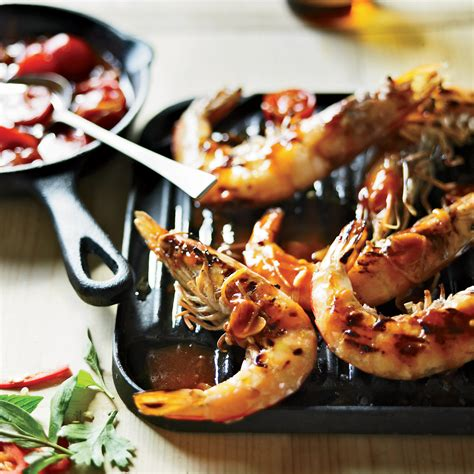 Grilled Shrimp with Sweet Chile Sauce Recipe - Pete Evans
