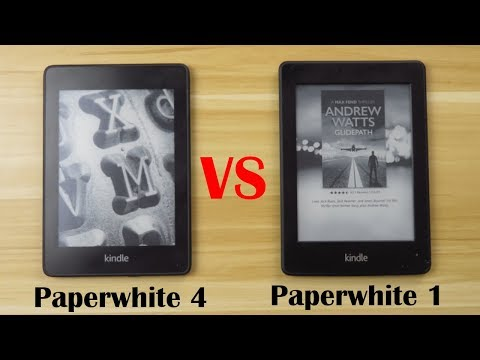 Amazon Kindle Paperwhite Review & Front Light demo - YouTube