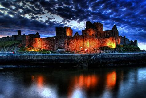Peel castle reflections - ISLE OF MAN