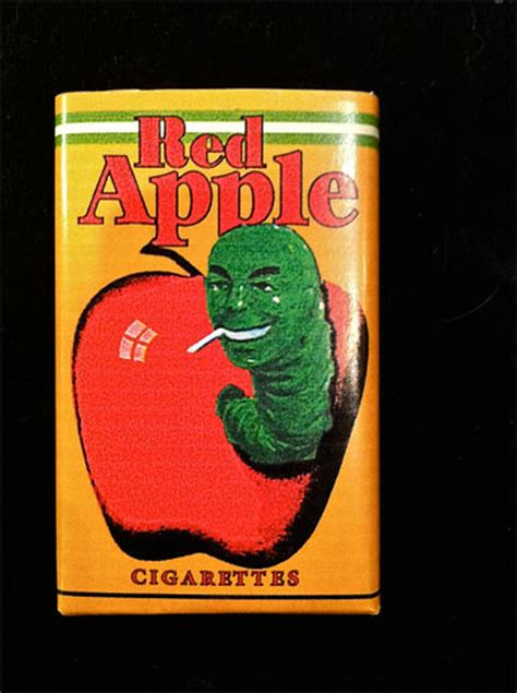 Pulp Fiction Red Apple Cigarette Pack, Framed , Very Neat