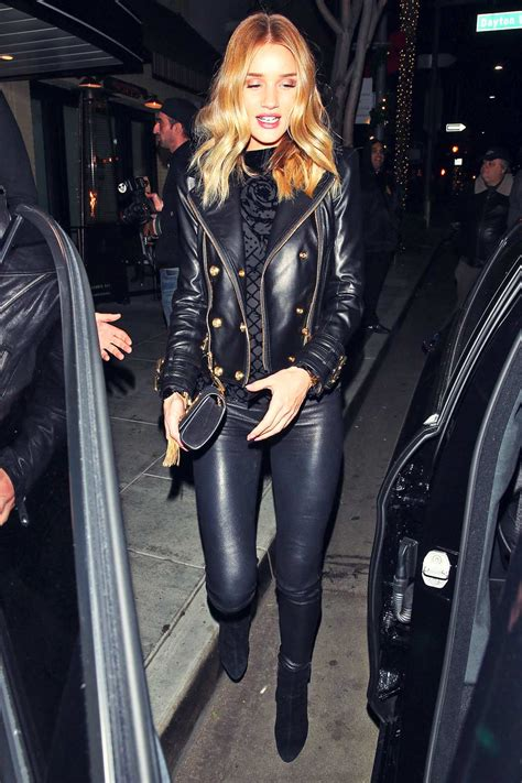 Rosie Huntington-Whiteley at the Palm Restaurant - Leather