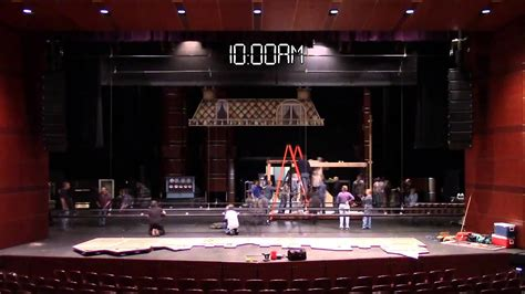 Mary Poppins Stage Set Time Lapse - YouTube