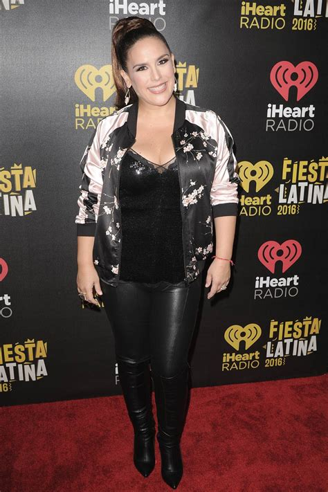 Angelica Vale attends iHeart Radio Fiesta Latina - Leather