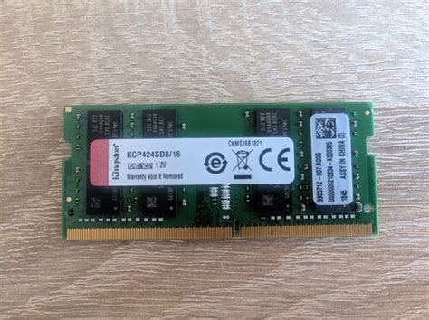 Kingston KCP424SD8/16 16GB DDR4 2400Mhz CL17 1
