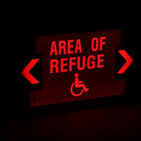 Area Of Refuge LED Exit Sign with Battery Backup | Ships