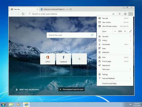 How to download and install Microsoft Edge on Windows 7