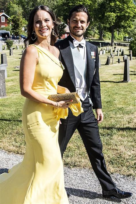 Princess Sofia of Sweden Wears Asymmetrical Dress with a