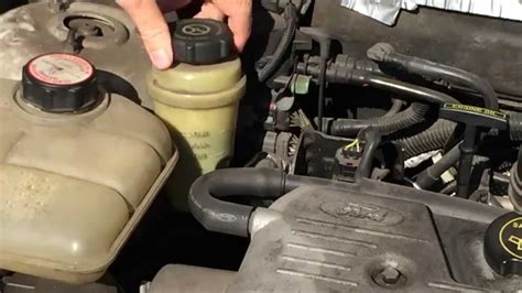 How To Check The Power a Steering Fluid Level On A Ford
